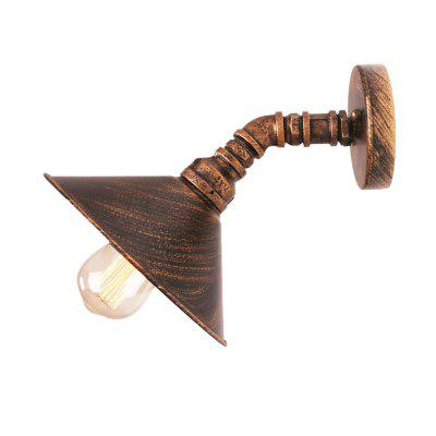 Buy BRONZE-COLORED Brightness Industrial Style Wall Sconce Restaurant And Bar Metal Water Pipe Wall lamp for $48.20 in GearBest store