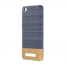 Wkae Jeans Canvas Leather Back Case Cover for Xiaomi Redmi 4A