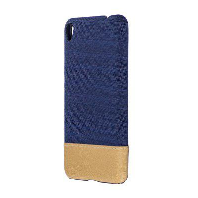 Buy DEEP BLUE Wkae Jeans Canvas Leather Back Case Cover for Asus ZenFone 3 Go Live ZB501KL for $5.28 in GearBest store