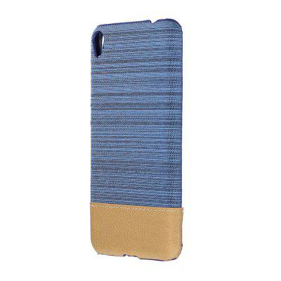 Wkae Jeans Canvas Leather Back Case Cover for Asus ZenFone 3 Go Live ZB501KL