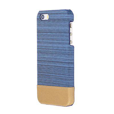 Wkae Jeans Canvas Leather Back Case Cover for iPhone 5 / 5S / SE