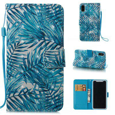 Buy BLUE Wkae 3D Stereo Painted Leather Case Cover for IPhone X for $4.62 in GearBest store