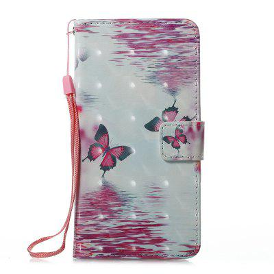 Buy PINK + WHITE Wkae 3D Stereo Painted Leather Case Cover for Samsung Galaxy J510 for $5.28 in GearBest store