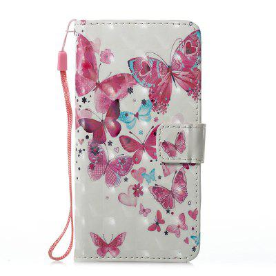 Buy ROSE + WHITE Wkae 3D Stereo Painted Leather Case Cover for Samsung Galaxy J510 for $5.28 in GearBest store