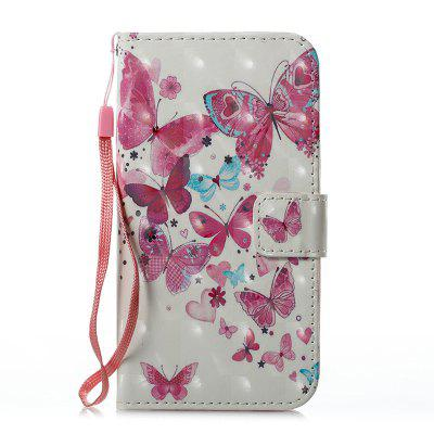 Buy Wkae 3D Effect Painted Leather Case Cover for Samsung Galaxy S7, PINK + WHITE, Mobile Phones, Cell Phone Accessories, Samsung Accessories, Samsung S Series for $3.85 in GearBest store