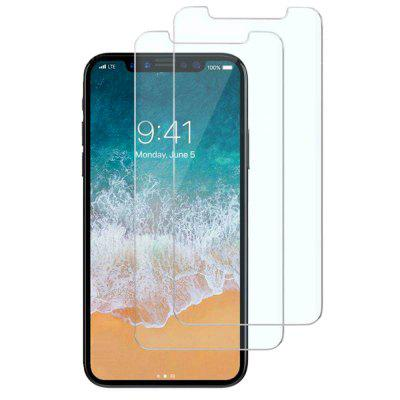 2Pcs 0.2mm 9H Hardness Explosion-Proof Anti-Scratch Tempered Glass Screen Protector for iPhone X