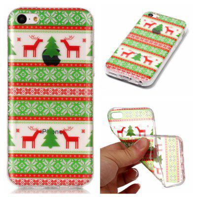 Christmas Style TPU Soft Back Case for iPhone 5C