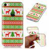 Christmas Style TPU Soft Back Case for iPhone 5C - RED AND GREEN