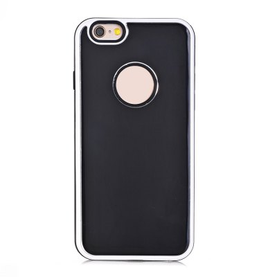 TPU Metal Back Shockproof Anti-Scratch Cover Case for iPhone 6 / 6S