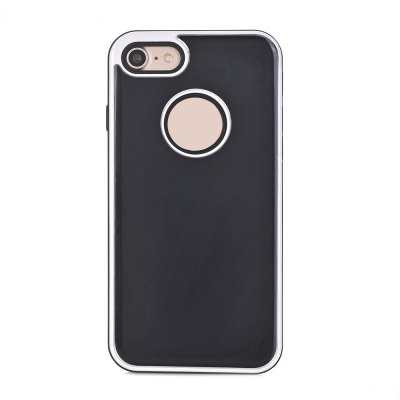 TPU Metal Back Shockproof Anti-Scratch Cover Case for IPhone 7
