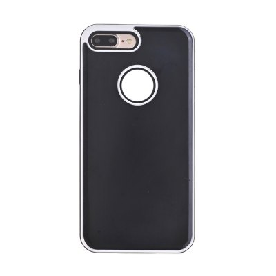 TPU Metal Back Shockproof Anti-Scratch Cover Case for IPhone 7 Plus