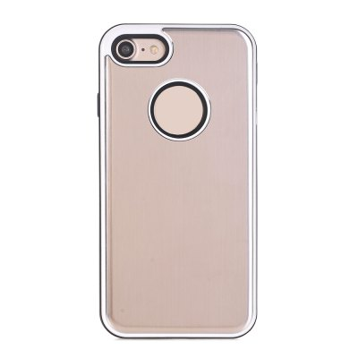 TPU Metal Back Shockproof Anti-Scratch Cover Case for IPhone 8