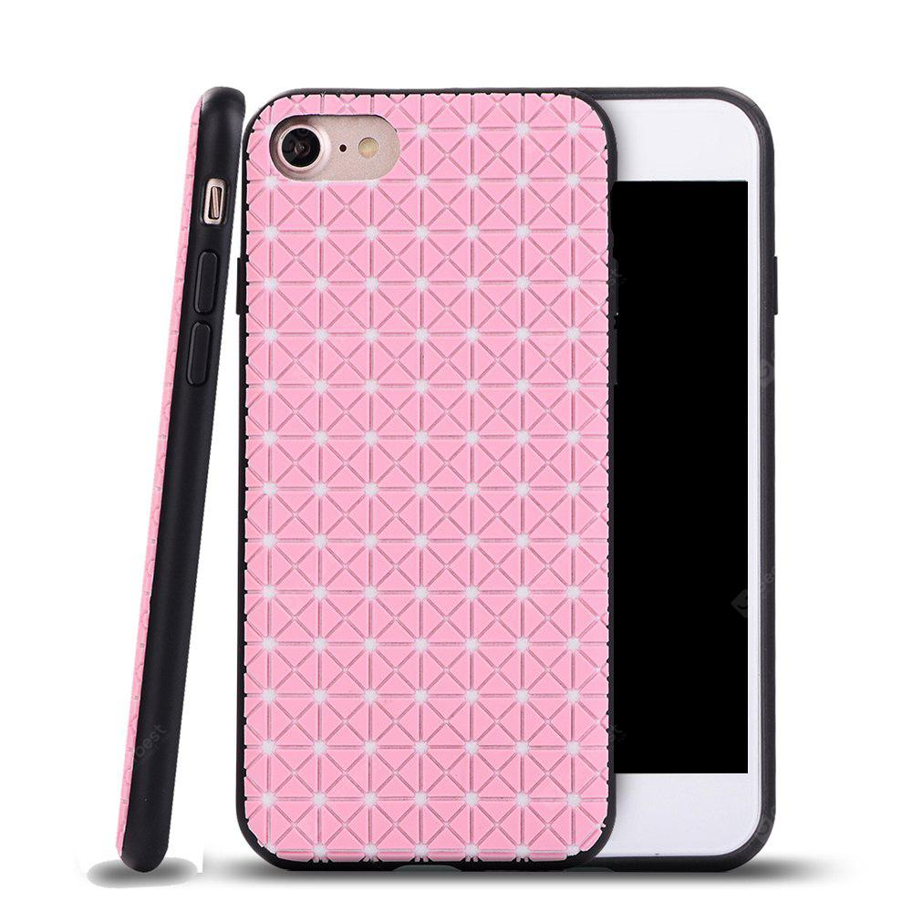 Flexible TPU Case with Grid Pattern Anti-Scratch Anti-Fingerprint Shockproof for iPhone 7 / 8