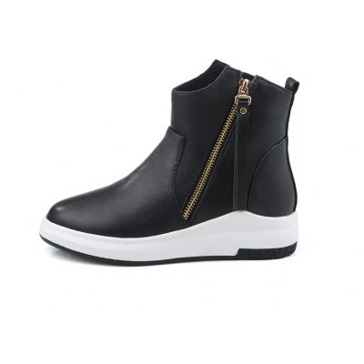 Womens Bottine Modern Design Side Zipper Round Toe All-match Elegant ShoesWomens Boots<br>Womens Bottine Modern Design Side Zipper Round Toe All-match Elegant Shoes<br><br>Boot Height: Ankle<br>Boot Type: Riding/Equestrian<br>Closure Type: Zip<br>Gender: For Women<br>Heel Height: 4<br>Heel Height Range: Low(0.75-1.5)<br>Heel Type: Wedge Heel<br>Package Contents: 1 x Shoes(pair)<br>Pattern Type: Solid<br>Season: Spring/Fall, Winter<br>Toe Shape: Round Toe<br>Upper Material: PU<br>Weight: 1.6588kg