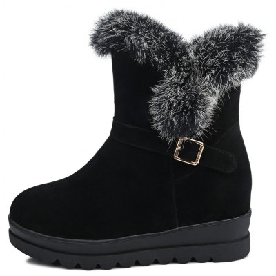 Womens Round Toe Solid Color All-match Thick Sole Warm BottineWomens Boots<br>Womens Round Toe Solid Color All-match Thick Sole Warm Bottine<br><br>Boot Height: Ankle<br>Boot Tube Height: 14<br>Boot Type: Snow Boots<br>Closure Type: Slip-On<br>Gender: For Women<br>Heel Height: 4<br>Heel Height Range: Med(1.75-2.75)<br>Heel Type: Wedge Heel<br>Package Contents: 1 x Shoes(pair)<br>Pattern Type: Solid<br>Season: Spring/Fall, Winter<br>Toe Shape: Round Toe<br>Upper Material: Flock<br>Weight: 1.6588kg
