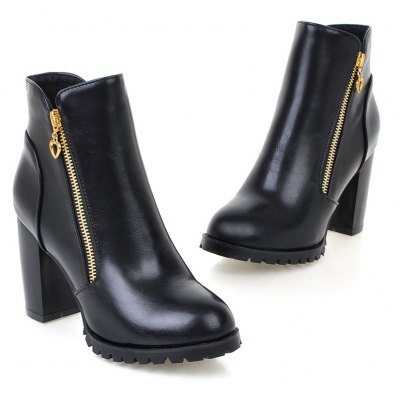 Womens Boots Solid Color Plain Style All-match Thick Heel ShoesWomens Boots<br>Womens Boots Solid Color Plain Style All-match Thick Heel Shoes<br><br>Boot Height: Ankle<br>Boot Tube Height: 10<br>Boot Type: Fashion Boots<br>Closure Type: Zip<br>Gender: For Women<br>Heel Height: 9<br>Heel Height Range: High(3-3.99)<br>Heel Type: Chunky Heel<br>Package Contents: 1 x Shoes(pair)<br>Pattern Type: Solid<br>Platform Height: 1.5<br>Season: Spring/Fall, Winter<br>Toe Shape: Round Toe<br>Upper Material: PU<br>Weight: 1.6588kg