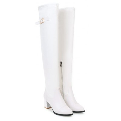 Womens Above Knee Boots Solid Color PU Leather All-match Comfy BootsWomens Boots<br>Womens Above Knee Boots Solid Color PU Leather All-match Comfy Boots<br><br>Boot Height: Over-the-Knee<br>Boot Tube Circumference: 39<br>Boot Tube Height: 55<br>Boot Type: Fashion Boots<br>Closure Type: Slip-On<br>Embellishment: Buckle<br>Gender: For Women<br>Heel Height: 6<br>Heel Height Range: Med(1.75-2.75)<br>Heel Type: Chunky Heel<br>Package Contents: 1 x Shoes(pair)<br>Pattern Type: Solid<br>Season: Winter, Spring/Fall<br>Toe Shape: Pointed Toe<br>Upper Material: PU<br>Weight: 1.6588kg