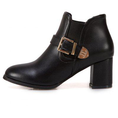 Womens Boots Solid All-match Thick Heel Round Toe Ankle ShoesWomens Boots<br>Womens Boots Solid All-match Thick Heel Round Toe Ankle Shoes<br><br>Boot Height: Ankle<br>Boot Tube Height: 9<br>Boot Type: Fashion Boots<br>Closure Type: Elastic band<br>Embellishment: Buckle<br>Gender: For Women<br>Heel Height: 6<br>Heel Height Range: Med(1.75-2.75)<br>Heel Type: Chunky Heel<br>Package Contents: 1 x Shoes(pair)<br>Pattern Type: Solid<br>Season: Spring/Fall, Winter<br>Toe Shape: Round Toe<br>Upper Material: PU<br>Weight: 1.6588kg