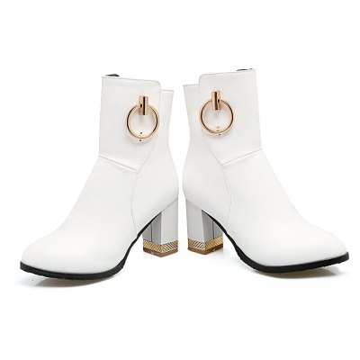 Womens Ankle Metal Circle Decor Solid Color Side Zipper Stylish BootsWomens Boots<br>Womens Ankle Metal Circle Decor Solid Color Side Zipper Stylish Boots<br><br>Boot Height: Ankle<br>Boot Tube Height: 14<br>Boot Type: Fashion Boots<br>Closure Type: Zip<br>Embellishment: Metal<br>Gender: For Women<br>Heel Height: 7.5<br>Heel Height Range: High(3-3.99)<br>Heel Type: Chunky Heel<br>Package Contents: 1 x Shoes(pair)<br>Pattern Type: Solid<br>Season: Spring/Fall, Winter<br>Toe Shape: Round Toe<br>Upper Material: PU<br>Weight: 1.6588kg