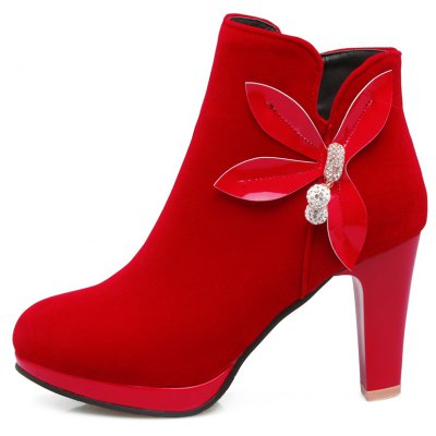 Womens Ankle Bow Knot Decor High Square Heel BootsWomens Boots<br>Womens Ankle Bow Knot Decor High Square Heel Boots<br><br>Boot Height: Ankle<br>Boot Tube Height: 8.5<br>Boot Type: Fashion Boots<br>Closure Type: Zip<br>Embellishment: Appliques<br>Gender: For Women<br>Heel Height: 9<br>Heel Height Range: High(3-3.99)<br>Heel Type: Chunky Heel<br>Package Contents: 1 x Shoes(pair)<br>Pattern Type: Solid<br>Platform Height: 2<br>Season: Spring/Fall, Winter<br>Toe Shape: Round Toe<br>Upper Material: Flock<br>Weight: 1.6588kg