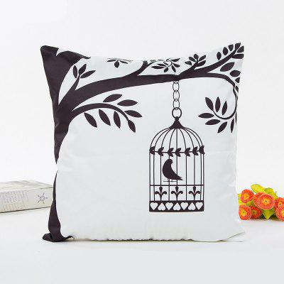 1pc Simulated Silk Satin Tree Bird Cage Pillow Cover