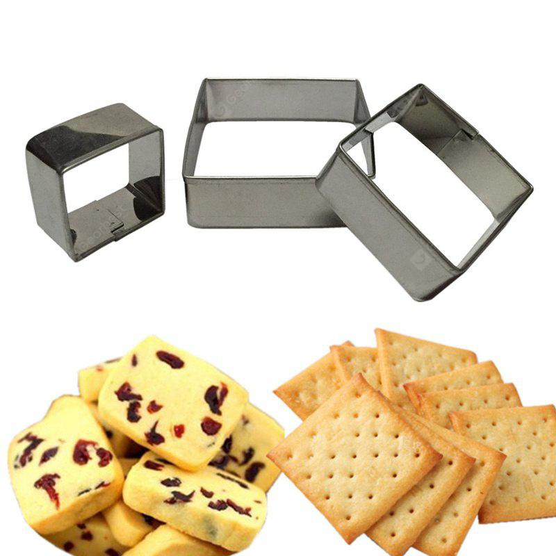 WS Square Mousse Ring 3D Biscuit Cookie Cutter Mold