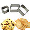 WS Square Mousse Ring 3D Biscuit Cookie Cutter Mold - STAINLESS STEEL