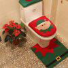 WS 0091 Bathroom Toilet Cover Set Gift and Decoration for Christmas and New Year - RED AND GREEN