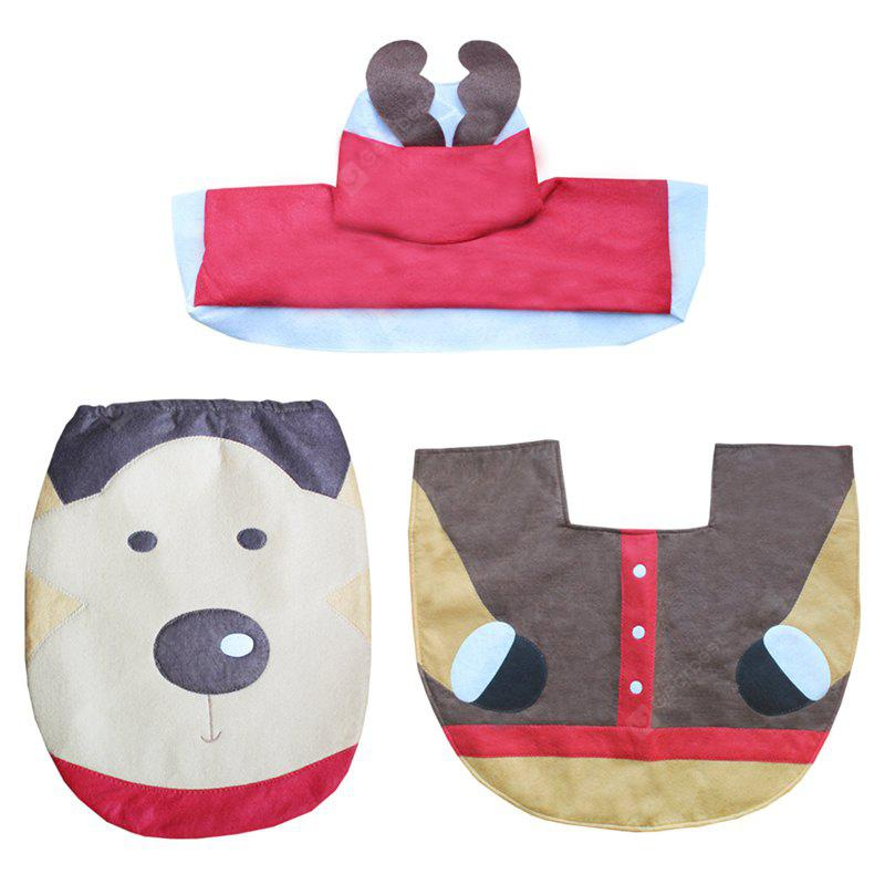 WS 0092 Bathroom Toilet Cover Set Gift and Decoration for Christmas and New Year