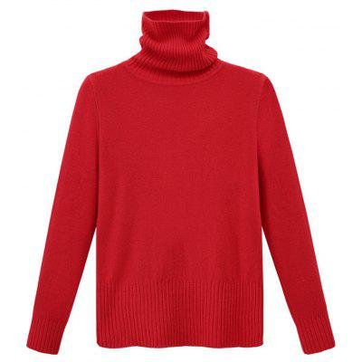 Autumn and Winter Thick High Necked Long Sleeved Solid Color Sweater