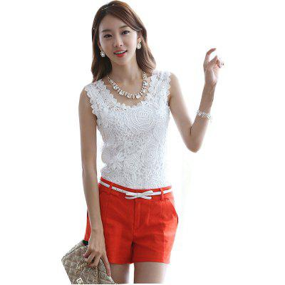 Korean Version of The Lace Vest Big Sleeves ShirtTank Tops<br>Korean Version of The Lace Vest Big Sleeves Shirt<br><br>Closure Type: Fully Enclosed<br>Collar: Round Neck<br>Elasticity: Micro-elastic<br>Fabric Type: Cotton and kapok hemp<br>Hooded: No<br>Material: Cotton, Lace<br>Package Contents: 1 x Vest<br>Pattern Type: Solid<br>Shirt Length: Regular<br>Style: Sweet<br>Thickness: Thin<br>Weight: 0.2000kg