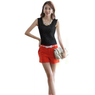 Korean Version of The Lace Vest Big Sleeves Shirt