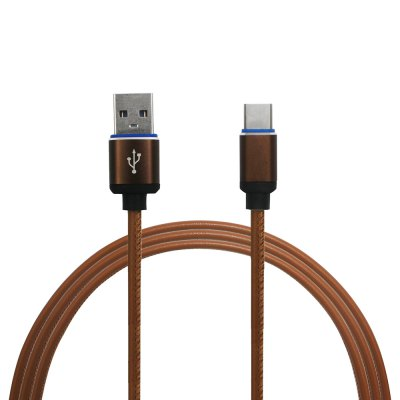 Mini Smile 3.4A Quick Charge Leather Type-C To Usb Charging Cable with High-Speed Data Transmission 100CM
