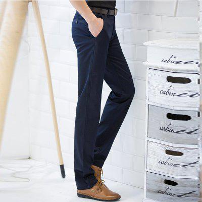 Straight Comfortable Slim Suit Pants Dark Blue MaleMens Pants<br>Straight Comfortable Slim Suit Pants Dark Blue Male<br><br>Closure Type: Zipper Fly<br>Elasticity: Micro-elastic<br>Embellishment: Button,Pockets,Zippers<br>Fabric Type: Broadcloth<br>Fit Type: Straight<br>Front Style: Pleated<br>Length: Normal<br>Material: 98 %Cotton 2%Spandex, Spandex, Cotton<br>Package Contents: 1 X Suit Pant<br>Package size (L x W x H): 1.00 x 1.00 x 1.00 cm / 0.39 x 0.39 x 0.39 inches<br>Package weight: 0.6000 kg<br>Pant Style: Straight<br>Pattern Type: Solid<br>Style: Casual<br>Thickness: Standard<br>Waist Type: Mid<br>With Belt: No