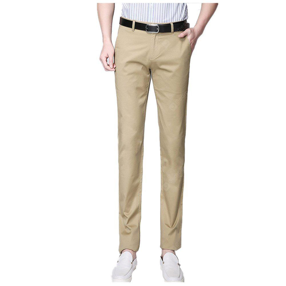 Business Casual Khaki Pants Male High Quality