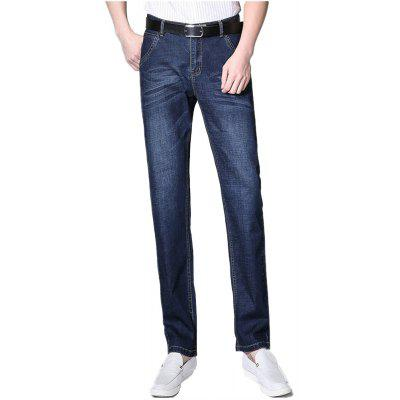 Fashion Business Blue Jeans Male High Quality