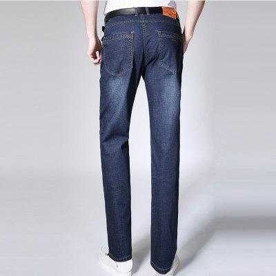 Fashion Business Blue Jeans Male High QualityMens Pants<br>Fashion Business Blue Jeans Male High Quality<br><br>Closure Type: Zipper Fly<br>Fabric Type: Broadcloth<br>Fit Type: Straight<br>Material: 64.4%Cotton  34.6%Polyester  1%Spandex, Cotton, Polyester, Spandex<br>Package Contents: 1 X Jeans<br>Pant Length: Long Pants<br>Pant Style: Straight<br>Waist Type: Mid<br>Wash: Light<br>Weight: 0.5000kg