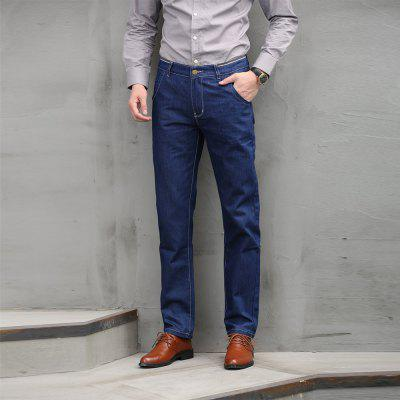 Fashion Business Jeans Blue Male High QualityMens Pants<br>Fashion Business Jeans Blue Male High Quality<br><br>Closure Type: Zipper Fly<br>Fabric Type: Broadcloth<br>Fit Type: Loose<br>Material: 78.9%Cotton 15.5%Polyester 5.6%Spandex, Cotton, Jeans, Polyester, Spandex<br>Package Contents: 1 X Jeans<br>Pant Length: Long Pants<br>Pant Style: Straight<br>Waist Type: Mid<br>Wash: Light<br>Weight: 0.5000kg