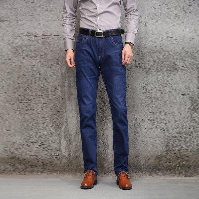 Comfortable Casual Jeans Blue MaleMens Pants<br>Comfortable Casual Jeans Blue Male<br><br>Closure Type: Zipper Fly<br>Fabric Type: Broadcloth<br>Fit Type: Loose<br>Material: 69.1%Cotton  29%Polyester  1.1%Viscose  0.8% Spandex, Cotton, Jeans, Polyester, Spandex<br>Package Contents: 1 X Jeans<br>Pant Length: Long Pants<br>Pant Style: Straight<br>Waist Type: Mid<br>Wash: Light<br>Weight: 0.6000kg
