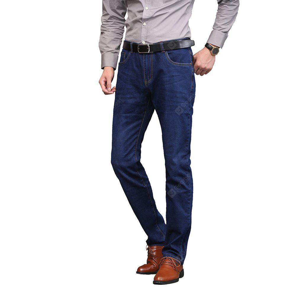 Comfortable Casual Jeans Blue Male