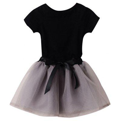 Summer Leisure Children Wear with Short Sleeves T-shirt and Gauze Skirt