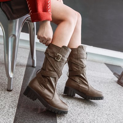 Womens Shoes Winter Comfort Fashion Slouch Low Heel Round Toe Mid-Calf Boots BuckleWomens Boots<br>Womens Shoes Winter Comfort Fashion Slouch Low Heel Round Toe Mid-Calf Boots Buckle<br><br>Boot Height: Mid-Calf<br>Boot Tube Circumference: 32<br>Boot Tube Height: 25<br>Boot Type: Motorcycle Boots<br>Closure Type: Slip-On<br>Embellishment: Metal<br>Gender: For Women<br>Heel Height: 4.5<br>Heel Height Range: Med(1.75-2.75)<br>Heel Type: Chunky Heel<br>Insole Material: PU<br>Lining Material: PU<br>Outsole Material: Rubber<br>Package Contents: 1xShoes(pair)<br>Pattern Type: Solid<br>Platform Height: 2<br>Season: Winter<br>Shoe Width: Medium(B/M)<br>Toe Shape: Round Toe<br>Upper Material: PU<br>Weight: 1.7600kg