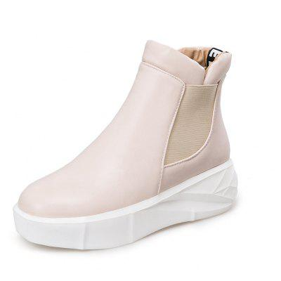 Womens Shoes Leatherette Spring Winter Comfort Boots Platform Creepers Round Toe BootiesWomens Boots<br>Womens Shoes Leatherette Spring Winter Comfort Boots Platform Creepers Round Toe Booties<br><br>Boot Height: Ankle<br>Boot Tube Circumference: 33<br>Boot Tube Height: 10<br>Boot Type: Fashion Boots<br>Closure Type: Slip-On<br>Gender: For Women<br>Heel Height: 3.5<br>Heel Height Range: Low(0.75-1.5)<br>Heel Type: Flat Heel<br>Insole Material: PU<br>Lining Material: PU<br>Outsole Material: Rubber<br>Package Contents: 1xShoes(pair)<br>Pattern Type: Solid<br>Platform Height: 2.5<br>Season: Winter<br>Shoe Width: Medium(B/M)<br>Toe Shape: Round Toe<br>Upper Material: PU<br>Weight: 1.7020kg