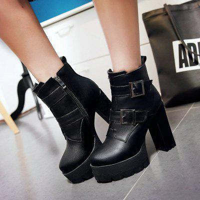 Womens Boots Fashion Winter Casual Dress Buckle Zipper Chunky Heel Dark Brown Ruby BlackWomens Boots<br>Womens Boots Fashion Winter Casual Dress Buckle Zipper Chunky Heel Dark Brown Ruby Black<br><br>Boot Height: Mid-Calf<br>Boot Tube Circumference: 22<br>Boot Tube Height: 12<br>Boot Type: Fashion Boots<br>Closure Type: Slip-On<br>Embellishment: Metal<br>Gender: For Women<br>Heel Height: 11<br>Heel Height Range: Super High(Above4)<br>Heel Type: Chunky Heel<br>Insole Material: PU<br>Lining Material: PU<br>Outsole Material: Rubber<br>Package Contents: 1xShoes(pair)<br>Pattern Type: Solid<br>Platform Height: 3<br>Season: Winter<br>Shoe Width: Medium(B/M)<br>Toe Shape: Round Toe<br>Upper Material: PU<br>Weight: 1.9800kg