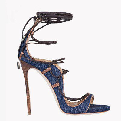 Women Shoes Denim Lace-up Thin Heels Peep Toe SandalsWomens Sandals<br>Women Shoes Denim Lace-up Thin Heels Peep Toe Sandals<br><br>Available Color: Blue<br>Available Size: 34-43<br>Closure Type: Lace-Up<br>Gender: For Women<br>Heel Height: 12<br>Heel Height Range: Super High(Above4)<br>Heel Type: Stiletto Heel<br>Insole Material: PU<br>Lining Material: PU<br>Occasion: Casual<br>Outsole Material: Rubber<br>Package Content: 1xShoes(pair)<br>Pattern Type: Solid<br>Platform Height: 1<br>Sandals Style: Gladiator<br>Shoe Width: Medium(B/M)<br>Style: Leisure<br>Technology: Adhesive<br>Upper Material: PU<br>Weight: 1.9800kg