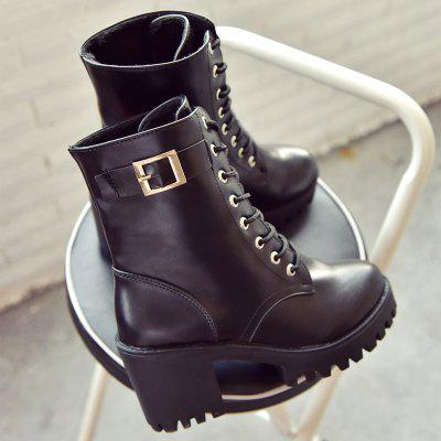 2017 New Autumn Style British Fashion Wind Round Head Lace Up High Heeled Boots Martin Boots WE-C-1Womens Boots<br>2017 New Autumn Style British Fashion Wind Round Head Lace Up High Heeled Boots Martin Boots WE-C-1<br><br>Boot Height: Ankle<br>Boot Tube Height: 8.5<br>Boot Type: Motorcycle Boots<br>Closure Type: Lace-Up<br>Gender: For Women<br>Heel Height: 5.5<br>Heel Height Range: Med(1.75-2.75)<br>Heel Type: Chunky Heel<br>Insole Material: PU<br>Lining Material: Cotton Fabric<br>Outsole Material: Rubber<br>Package Contents: 1XShoes(pair)<br>Pattern Type: Solid<br>Season: Winter<br>Shoe Width: Medium(B/M)<br>Toe Shape: Round Toe<br>Upper Material: PU<br>Weight: 1.2800kg