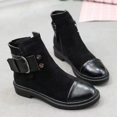 Autumn New Leather Buckle Fashion Chelsea  Medium CylinderThick Soles Womens BootsWomens Boots<br>Autumn New Leather Buckle Fashion Chelsea  Medium CylinderThick Soles Womens Boots<br><br>Boot Height: Ankle<br>Boot Type: Riding/Equestrian<br>Closure Type: Zip<br>Gender: For Women<br>Heel Height: 3.5<br>Heel Height Range: Low(0.75-1.5)<br>Heel Type: Low Heel<br>Lining Material: Cotton Fabric<br>Outsole Material: Rubber<br>Package Contents: 1XShoes(pair)<br>Pattern Type: Solid<br>Season: Winter<br>Shoe Width: Medium(B/M)<br>Toe Shape: Round Toe<br>Upper Material: PU<br>Weight: 1.2800kg
