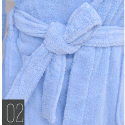 Thickened cotton towel bathrobeOther Bathroom Accessories<br>Thickened cotton towel bathrobe<br><br>Available Color: Pink,Blue<br>Material: Cotton<br>Package Contents: 1xTowel bathrobe<br>Package size (L x W x H): 40.00 x 30.00 x 3.00 cm / 15.75 x 11.81 x 1.18 inches<br>Package weight: 1.2000 kg<br>Product weight: 1.0000 kg