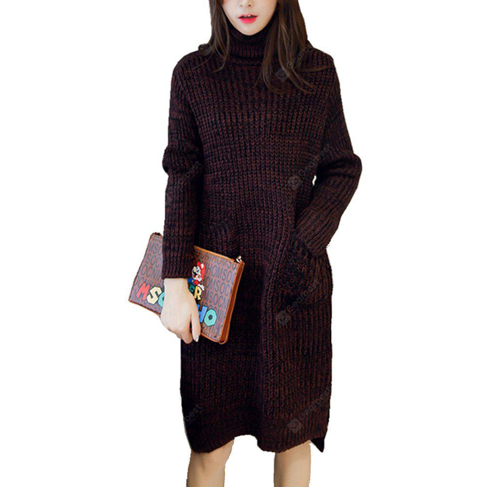 Autumn Pack Loose Large Size Turtleneck Dress