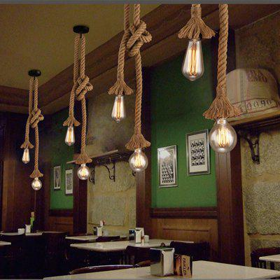industrial bar lighting. Nordic Hemp Rope Chandelier Retro Antique Rustic Industrial Bar Restaurant  Coffee Creative Dangling Lamp Vintage Kitchen Industrial Bar Lighting U